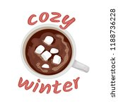 hot chocolate mug with... | Shutterstock .eps vector #1188736228
