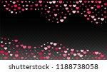 hearts confetti falling... | Shutterstock .eps vector #1188738058