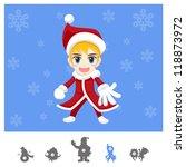 Colorful Characters Christmas : Santa Boy - stock vector