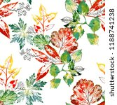 watercolor seamless pattern of... | Shutterstock . vector #1188741238
