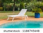 sun lounger near pool. | Shutterstock . vector #1188745648