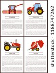 tractor and combine set of... | Shutterstock .eps vector #1188747262