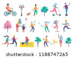 park people isolated icons set. ... | Shutterstock .eps vector #1188747265
