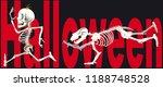 race of skeleton for halloween | Shutterstock .eps vector #1188748528