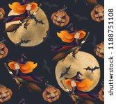 Halloween. Seamless Pattern...