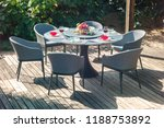 dining table with chairs and... | Shutterstock . vector #1188753892