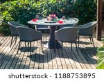 dining table with chairs and... | Shutterstock . vector #1188753895
