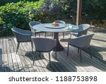 dining table with chairs and... | Shutterstock . vector #1188753898