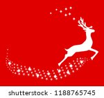 reindeer christmas with stars | Shutterstock .eps vector #1188765745