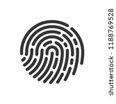 circle icon fingerprint vector... | Shutterstock .eps vector #1188769528