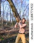 lumberjack or woodman sexy... | Shutterstock . vector #1188771922