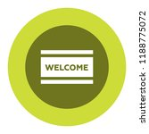 welcome mat vector icon | Shutterstock .eps vector #1188775072