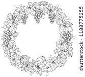 monochrome round frame made... | Shutterstock .eps vector #1188775255