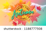 enjoy the autumn time. template ...   Shutterstock .eps vector #1188777508