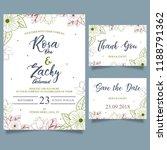 elegant wedding card   Shutterstock .eps vector #1188791362