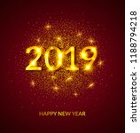 happy new year 2019 greeting... | Shutterstock . vector #1188794218