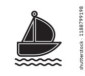 sailboat icon vector isolated... | Shutterstock .eps vector #1188799198