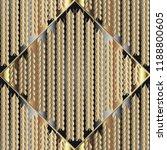 knitted 3d gold seamless... | Shutterstock .eps vector #1188800605