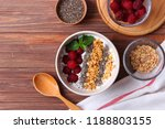 chia pudding in a bowl on the... | Shutterstock . vector #1188803155