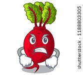 angry beetroot with leaves... | Shutterstock .eps vector #1188803305