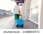 alone ten years old child with... | Shutterstock . vector #1188803572