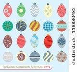 vector set  vintage christmas... | Shutterstock .eps vector #118880482