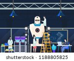 manufacturing robot at factory... | Shutterstock .eps vector #1188805825