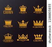 set of isolated king or queen... | Shutterstock .eps vector #1188805855