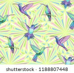 flying hummingbirds on abstract ... | Shutterstock .eps vector #1188807448