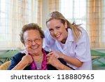 a home care nurse visits a... | Shutterstock . vector #118880965