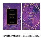 luxury wedding invitation cards ... | Shutterstock .eps vector #1188810202
