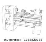 lathe concept. vector rendering ...   Shutterstock .eps vector #1188820198