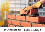 bricklayer cement masonry build ... | Shutterstock . vector #1188823075