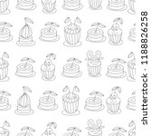 cupcakes seamless vintage... | Shutterstock .eps vector #1188826258