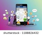social network web site surfing ... | Shutterstock .eps vector #1188826432
