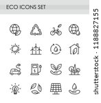 vector illustration set of line ... | Shutterstock .eps vector #1188827155