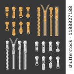 vector illustration set of gold ... | Shutterstock .eps vector #1188827188