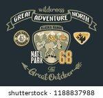 cute moose great outdoor... | Shutterstock .eps vector #1188837988
