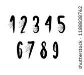 numbers font halloween   Shutterstock .eps vector #1188838762