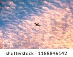 low angel of airplane setting... | Shutterstock . vector #1188846142
