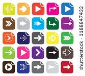 set of twenty five white arrows ... | Shutterstock .eps vector #1188847432