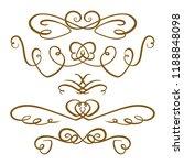 set of elegant flourishes on a...   Shutterstock .eps vector #1188848098