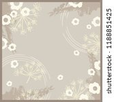 floral scarf pattern | Shutterstock .eps vector #1188851425