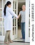 senior man meeting his doctor...   Shutterstock . vector #1188851815