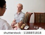 female doctor measuring blood...   Shutterstock . vector #1188851818
