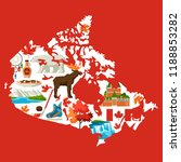 illustration of canada map.... | Shutterstock .eps vector #1188853282