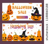 set of halloween sale banners... | Shutterstock .eps vector #1188860188