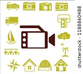 movie icon  vector video sign ... | Shutterstock .eps vector #1188860488