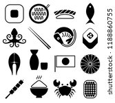 set of 16 vector icons of... | Shutterstock .eps vector #1188860755