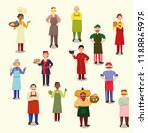 chefs from different countries... | Shutterstock .eps vector #1188865978